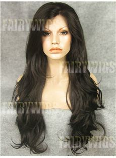 Multi-function Long  Female Wavy Lace Front Hair Wig 24 Inch