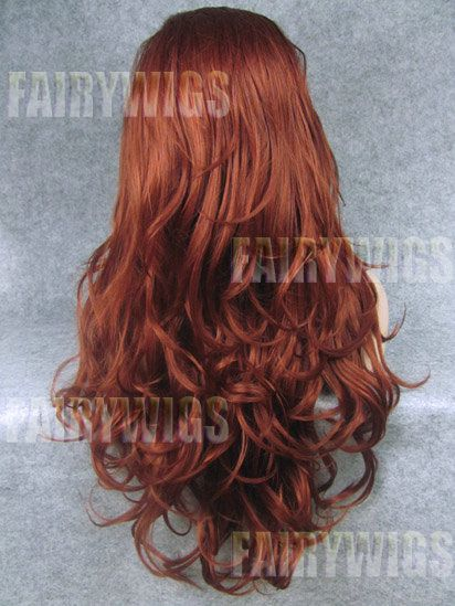 Special Cool Long Red Female Wavy Lace Front Hair Wig 24 Inch