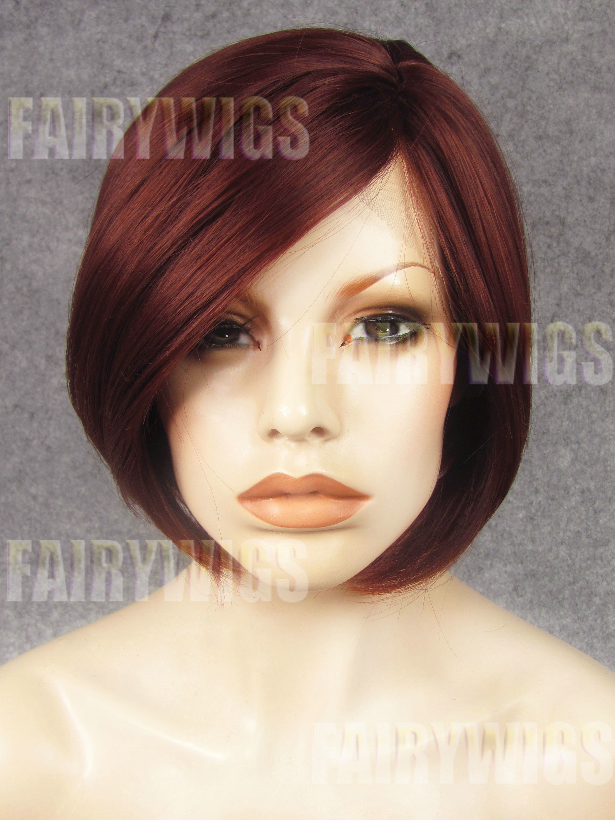 Excellent Chic Short Red Female Straight Lace Front Hair Wig 10 Inch Hairstyles For Women Draintrainus