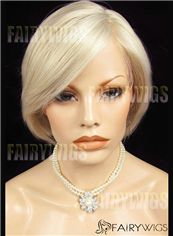 Online Short Blonde Female Wavy Lace Front Hair Wig 12 Inch