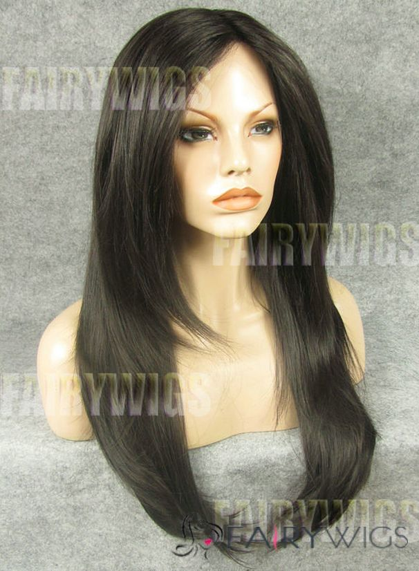 Perfect Long Sepia Female Straight Lace Front Hair Wig 22 Inch