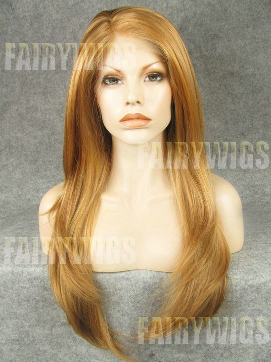 Mysterious Long Blonde Female Straight Lace Front Hair Wig 22 Inch