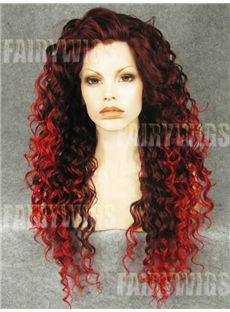 Hot Long Red Female Wavy Lace Front Hair Wig 22 Inch