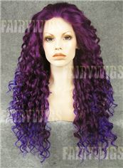 Personalized Long Female Wavy Lace Front Hair Wig 22 Inch