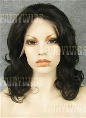 Classic Medium Sepia Female Wavy Lace Front Hair Wig 14 Inch