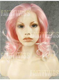 Pretty Medium Female Wavy Lace Front Hair Wig 14 Inch