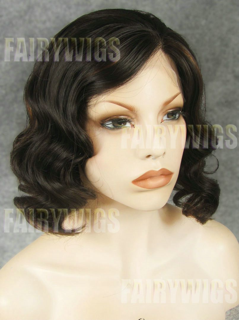 New Impressive Short Female Wavy Lace Front Hair Wig 12 Inch