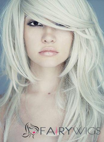 Sexy Medium Female Wavy Celebrity Hairstyle 18 Inch