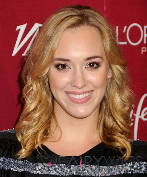 Inexpensive Medium Blonde Female Wavy Celebrity Hairstyle 14 Inch