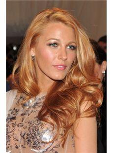 Lastest Trend Long Blonde Female Wavy Celebrity Hairstyle 20 Inch