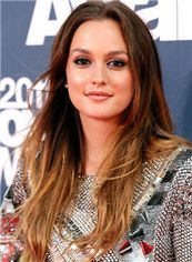 Fabulous Long Brown Female Straight Celebrity Hairstyle