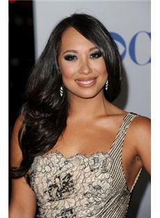 Grand Long Black Female Wavy Celebrity Hairstyle 20 Inch