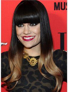 Lovely Long Black Female Wavy Celebrity Hairstyle 20 Inch