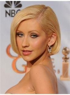 New Short Blonde Female Wavy Celebrity Hairstyle 10 Inch