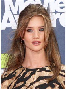 Glitter Medium Brown Female Wavy Celebrity Hairstyle 16 Inch
