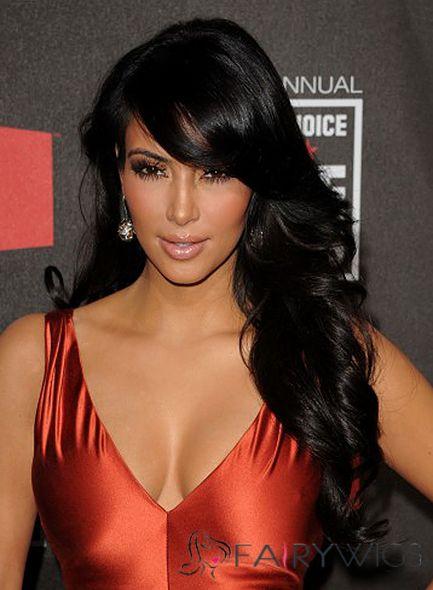 The Fresh Long Black Female Wavy Celebrity Hairstyle 20 Inch