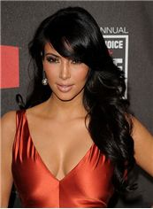 The Fresh Long Black Female Wavy Celebrity Hairstyle 20 Inch