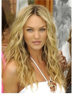 New Impressive Long Blonde Female Wavy Celebrity Hairstyle