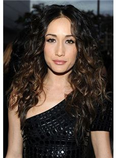 Personalized Long  Female Wavy Celebrity Hairstyle 22 Inch