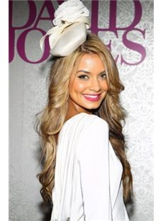 Soft Long Blonde Female Wavy Celebrity Hairstyle 26 Inch