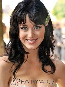 Sparkle Medium Black Female Wavy Celebrity Hairstyle 16 Inch