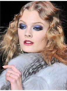 Concise Medium Blonde Female Wavy Celebrity Hairstyle 14 Inch