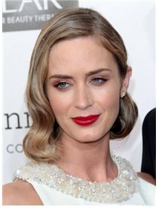 Wholesale Short Blonde Female Wavy Celebrity Hairstyle