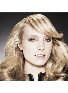 Mysterious Medium Blonde Female Wavy Vogue Wigs 18 Inch