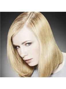 Newest Medium Blonde Female Straight Vogue Wigs 14 Inch