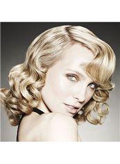 Wig Online Short Blonde Female Wavy Vogue Wigs 12 Inch