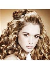 Sparkle Medium Blonde Female Wavy Vogue Wigs 14 Inch
