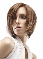 2015 Fashion Trend Short Brown Female Straight Vogue Wigs 12 Inch