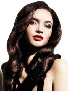 Ingenious Medium Sepia Female Wavy Vogue Wigs 18 Inch