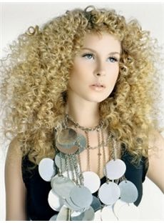 Sale Wigs Medium Blonde Female Curly Vogue Wigs 16 Inch