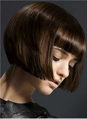 Multi-function Short Sepia Female Straight Vogue Wigs 12 Inch