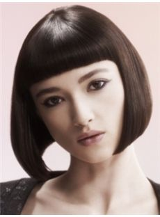 2015 Cool Short Sepia Female Straight Vogue Wigs 12 Inch