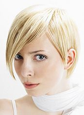 Affordable Short Blonde Female Straight Vogue Wigs 8 Inch