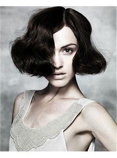Vogue Wig Short Sepia Female Wavy Vogue Wigs 10 Inch