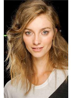 Exquisite Medium Blonde Female Wavy Vogue Wigs 16 Inch