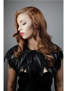 2015 Cool Medium Brown Female Wavy Vogue Wigs 18 Inch