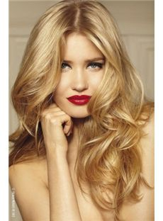 Up-to-date Long Blonde Female Wavy Vogue Wigs 20 Inch
