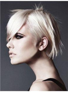 Stylish Short Blonde Female Straight Vogue Wigs