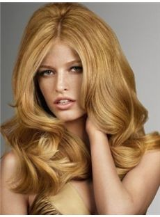 Gracefull Medium Blonde Female Wavy Vogue Wigs