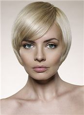 Fabulous Short Blonde Female Straight Vogue Wigs 8 Inch