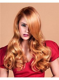 2015 Cool Long Blonde Female Wavy Vogue Wigs 20 Inch