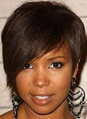 Wigs For Sale Short Sepia Female Straight Vogue Wigs 8 Inch