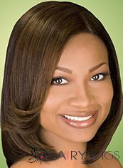 Shining Short Brown Female Wavy Vogue Wigs 12 Inch