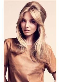 Amazing Medium Blonde Female Wavy Vogue Wigs 18 Inch
