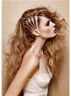 Delicate Long Blonde Female Wavy Vogue Wigs 20 Inch
