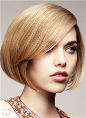Sweety Short Blonde Female Straight Vogue Wigs 12 Inch